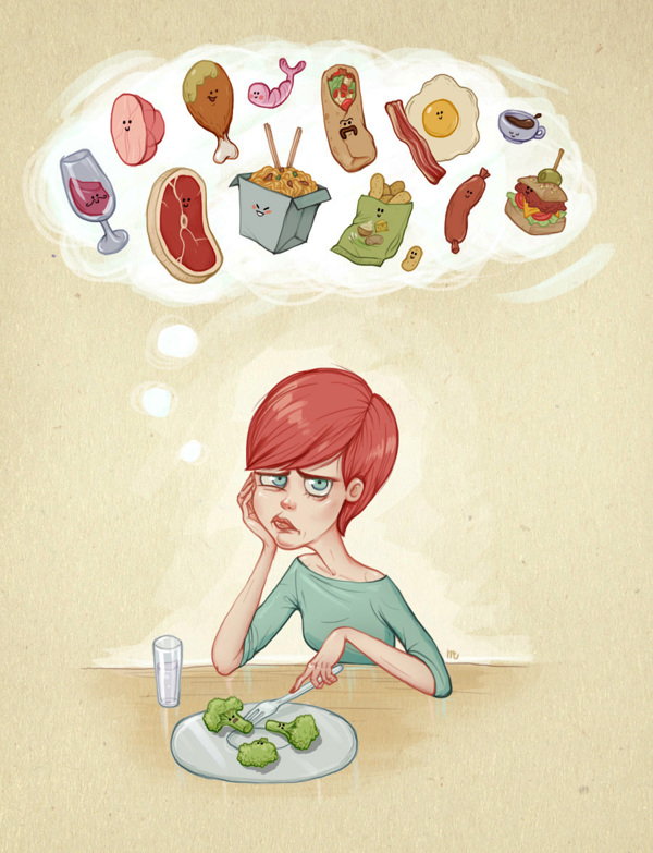 Sad-Girl-On-a-Diet-Day-Dreams-About-All-The-Good-Foods-Comic